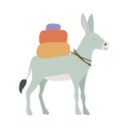 cute donkey animal character vector illustration design Illustration