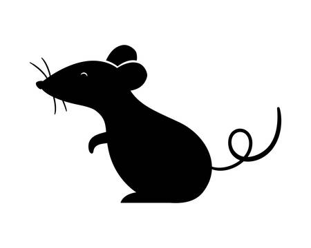 mouse design, Animal cute zoo life nature and fauna theme Vector illustration