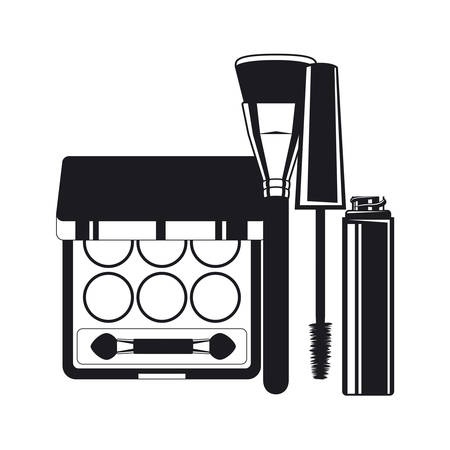 eyelashes and shadows make up product icon vector illustration design