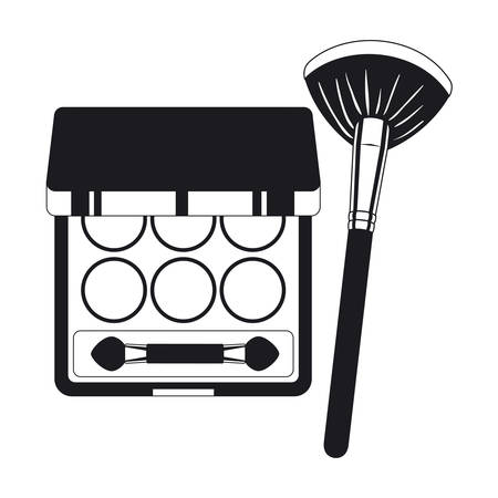 applicator make up thick brush and shadows vector illustration design Ilustrace