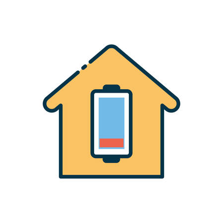 house design, Smart home technology system innovation security monitoring and automation theme Vector illustration