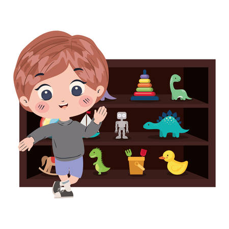 Boy cartoon design, Toys childhood play fun kid game gift and object theme Vector illustration