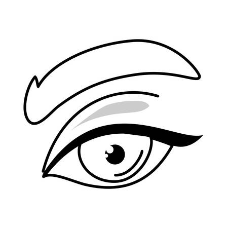 female eye design, View look vision optical human see and watch theme Vector illustration