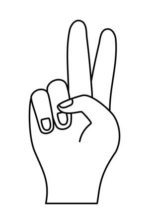 Hand signal icon design, Emoticon human finger gesture palm communication and people theme Vector illustration