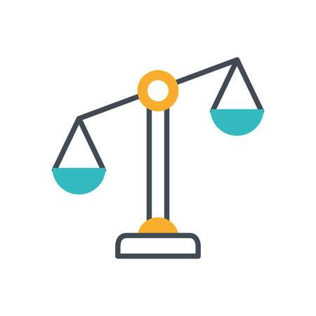 scale balance equality isolated icon vector illustration design Illusztráció