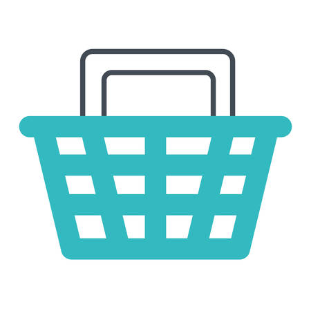 shopping basket commerce isolated icon vector illustration design