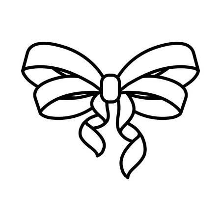 bow tie ribbon decorative icon vector illustration design