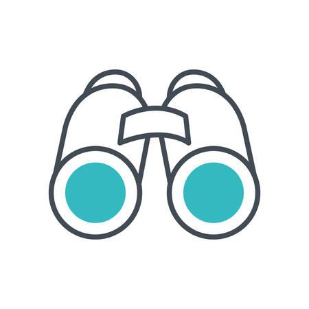 binoculars view accessory isolated icon vector illustration design Stock Illustratie
