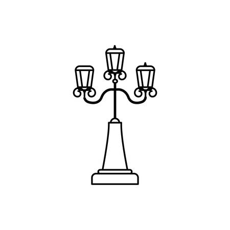 england postlamp classic isolated icon vector illustration design Illustration