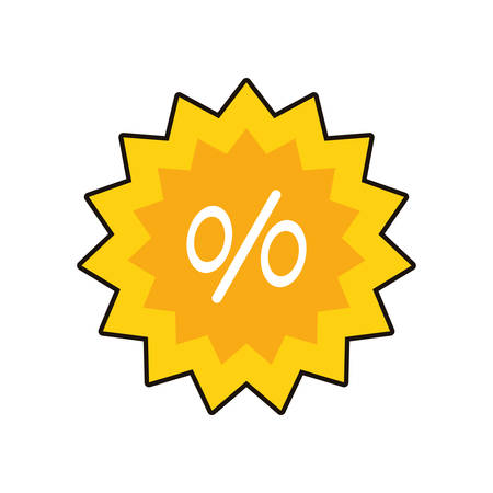 commercial seal with percent symbol vector illustration design Ilustracja