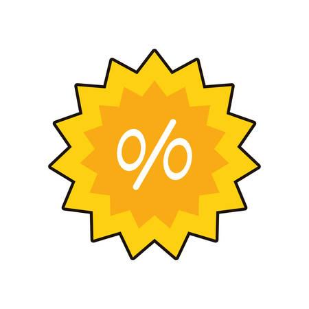 commercial seal with percent symbol vector illustration design Zdjęcie Seryjne - 134855434
