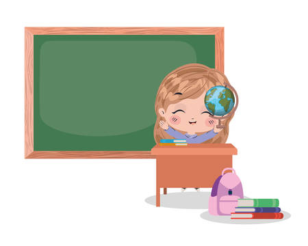 Kids cartoons design, School education lesson study learning classroom information and knowledge theme Vector illustration 向量圖像