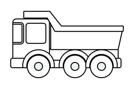 truck design, Toy childhood play fun kid game gift and object theme Vector illustration