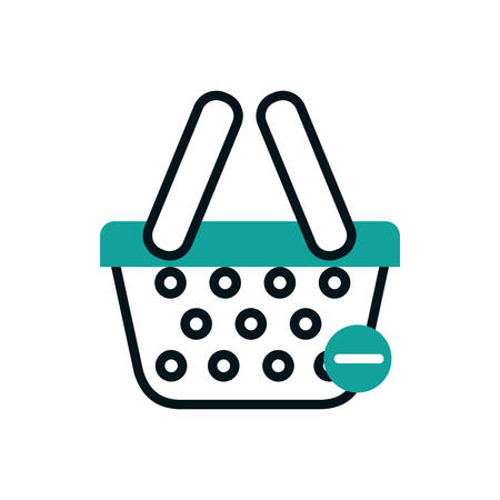 shopping basket design, Commerce market store retail paying and buying theme Vector illustration Stock Illustratie