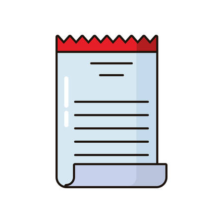 receipt paper document isolated icon vector illustration design