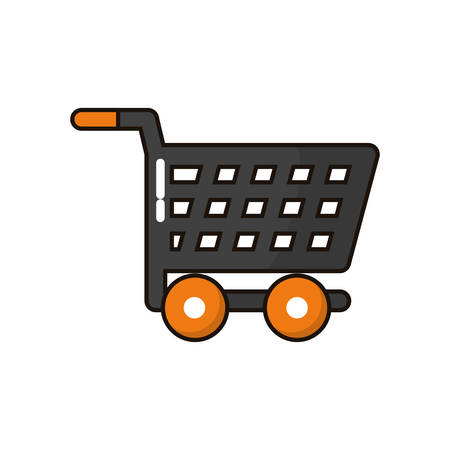 shopping cart trolley isolated icon vector illustration design Reklamní fotografie - 135494029