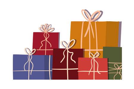 Gifts design, Merry christmas season decoration card invitation celebration and holiday theme Vector illustration Ilustrace