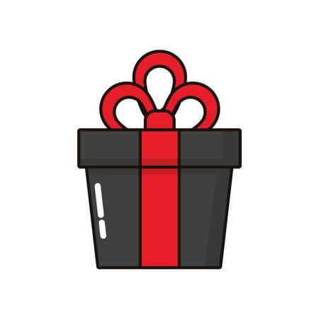 gift box present isolated icon vector illustration design Ilustrace