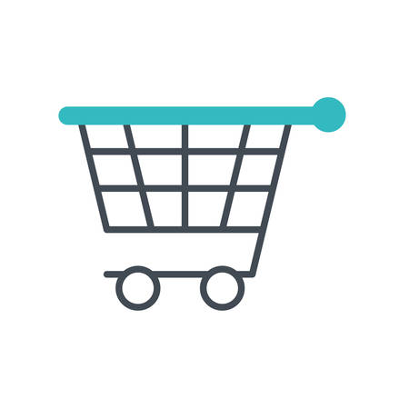 shopping cart commerce isolated icon vector illustration design Illusztráció