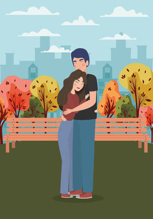 Couple of woman and man drawing design, Relationship love valentines day romance holiday and together theme Vector illustration