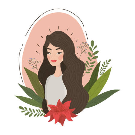 Cute woman cartoon drawing design, Girl female person people human and social media theme Vector illustration