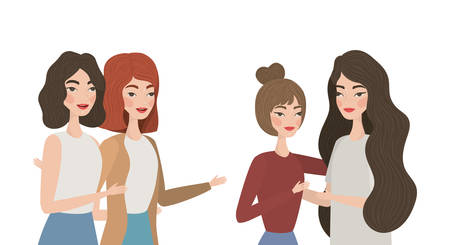 Avatar women drawing design, Girls females person people human and social media theme Vector illustration