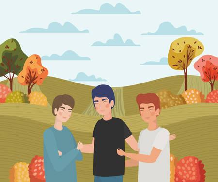 Avatar men design, Boys males person people human social media and portrait theme Vector illustration Ilustracja