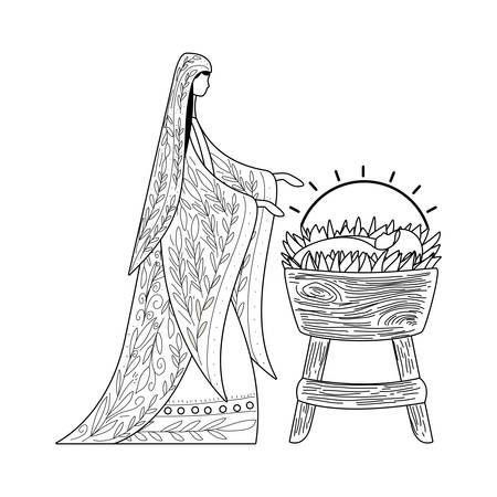 Happy epiphany day design, religion christianity god faith spirituality belief and pray theme Vector illustration Foto de archivo - 135553671