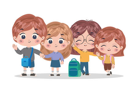 Kids cartoons design, School education lesson study learning classroom information and knowledge theme Vector illustration Ilustracja