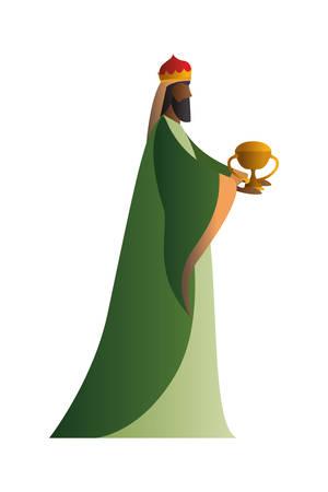 Happy epiphany day design, religion christianity god faith spirituality belief and pray theme Vector illustration