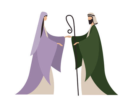 Happy epiphany day design, religion christianity god faith spirituality belief and pray theme Vector illustration Foto de archivo - 135923991