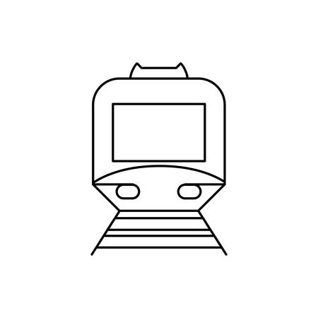 subway transport vehicle isolated icon vector illustration design