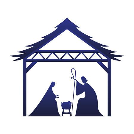 Happy epiphany day design, religion christianity god faith spirituality belief and pray theme Vector illustration Foto de archivo - 135963532