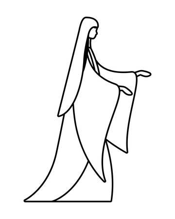 Happy epiphany day design, religion christianity god faith spirituality belief and pray theme Vector illustration Foto de archivo - 135964038