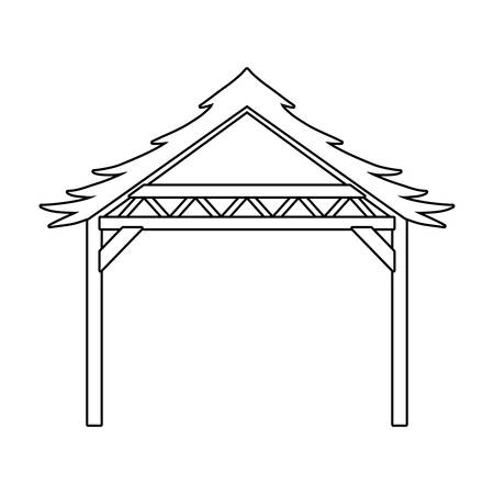Happy epiphany day hut design, religion christianity god faith spirituality belief and pray theme Vector illustration