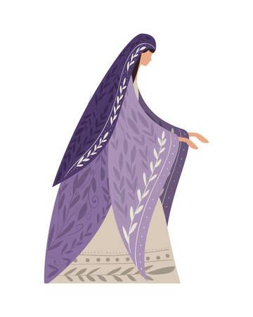 Happy epiphany day design, religion christianity god faith spirituality belief and pray theme Vector illustration Foto de archivo - 135985188