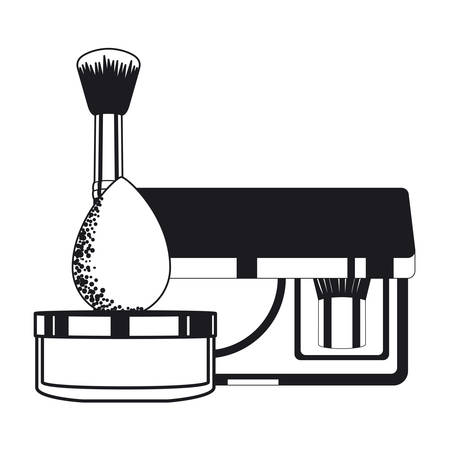 set of applicators make up brushes and cosmetics vector illustration design