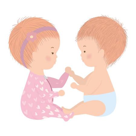 Nettes Baby- und Mädchendesign, Kinderunschuld der neugeborenen Kindheit und kleines Thema Vektorillustration Vektorgrafik