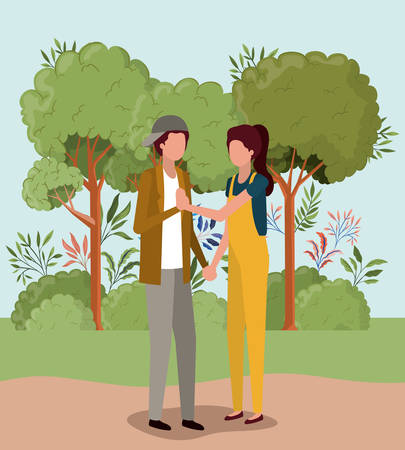 Couple of woman and man design, Relationship love romance holiday and together theme Vector illustration