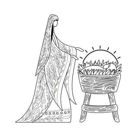 Happy epiphany day design, religion christianity god faith spirituality belief and pray theme Vector illustration Foto de archivo - 136007743