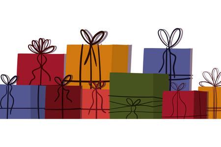 Gifts design, Merry christmas season decoration card invitation celebration and holiday theme Vector illustration