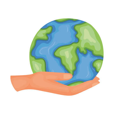 Planet sphere design, Continent earth world globe ocean and universe theme Vector illustration Ilustrace