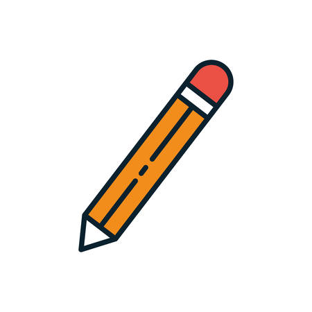 Pencil design, Tool write office object instrument equipment draw art and learn theme Vector illustration 矢量图像