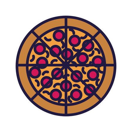 Pizza design, Eat food restaurant menu dinner lunch cooking and meal theme Vector illustration