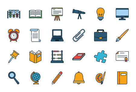 School icon design, Eduaction class lesson knowledge preschooler study learning classroom and primary theme Vector illustration