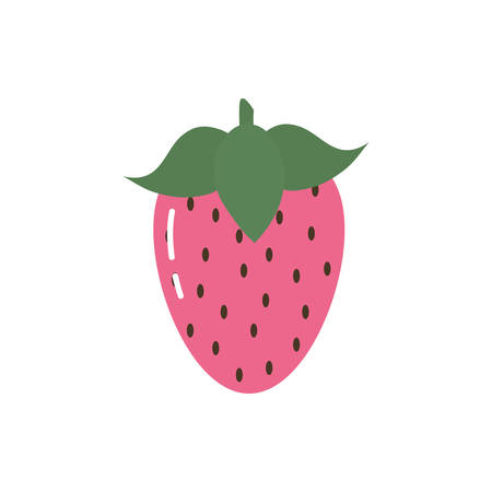Strawberry design, Fruit healthy organic food sweet and nature theme Vector illustration Ilustrace