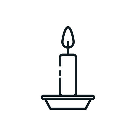 Candle icon design, Fire flame candlelight light spirituality burn and decoration theme Vector illustration Imagens - 137749078