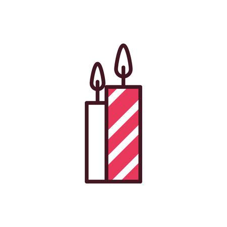 Candles icon design, Fire flame candlelight light spirituality burn and decoration theme Vector illustration Ilustração