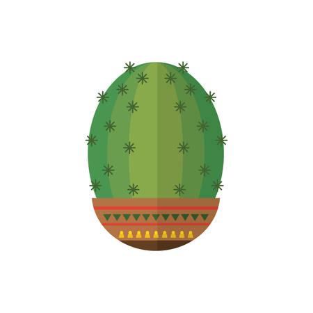 Cactus inside pot design, Plant desert nature tropical summer mexico and western theme Vector illustration Illusztráció
