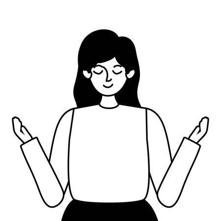 Avatar woman design, Girl female person people human and social media theme Vector illustration Illusztráció